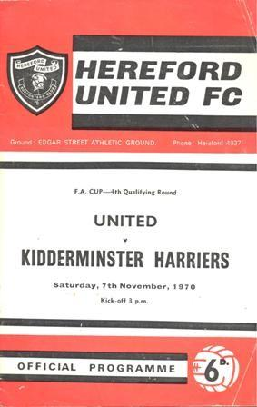 Hereford United (A), 1970