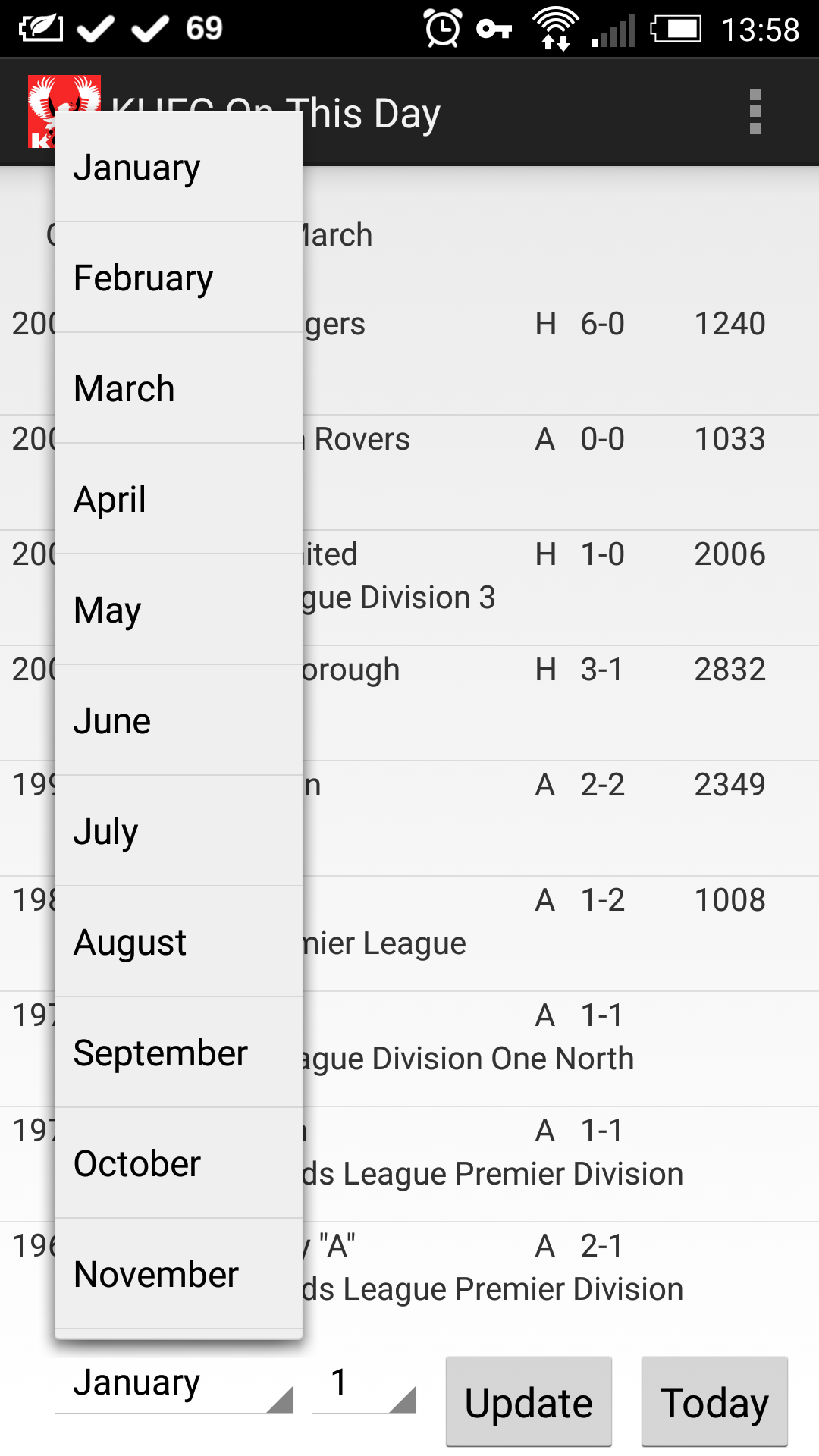 KHFC - On This Day app screenshot