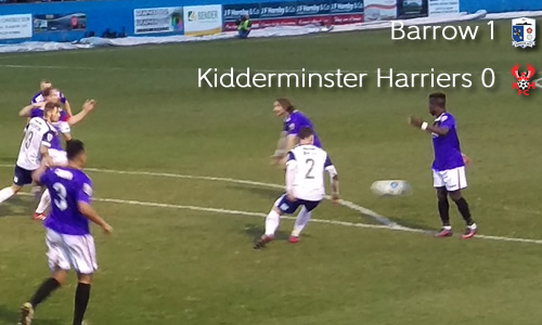 Trophy Run Ends: Barrow 1-0 Harriers