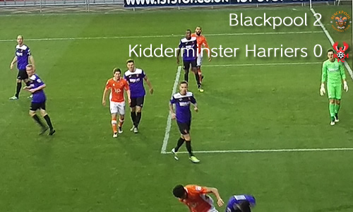 Cup Disappointment For Harriers: Blackpool 2-0 Harriers