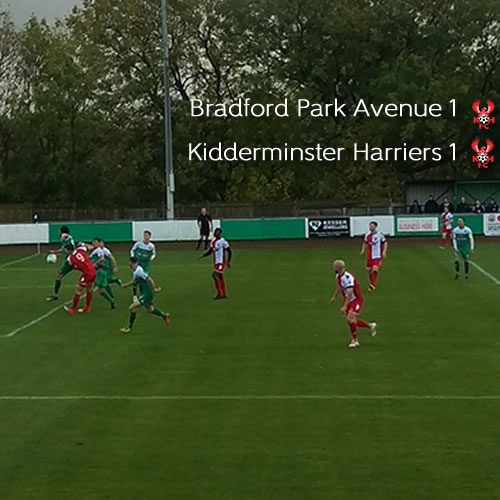 Harriers Held By Avenue: Bradford Park Avenue 1-1 Harriers