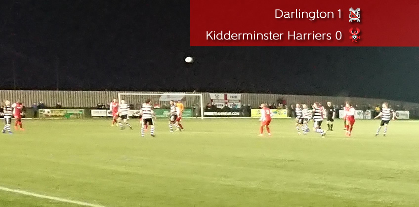 Darlo Disappointment For Harriers: Darlington 1-0 Harriers
