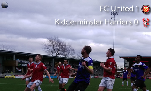 Harriers Dominate, Miss Another Chance: FC United 1-0 Harriers