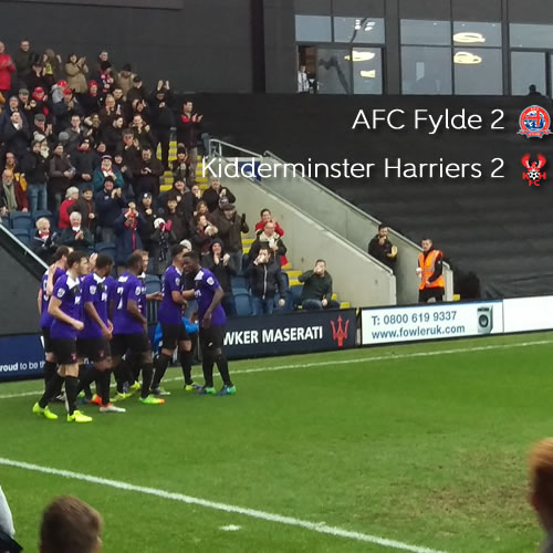 Late Drama Costs Harriers Victory: AFC Fylde 2-2 Harriers