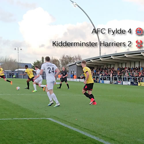 Cup Run Coasts To An End: AFC Fylde 4-2 Harriers