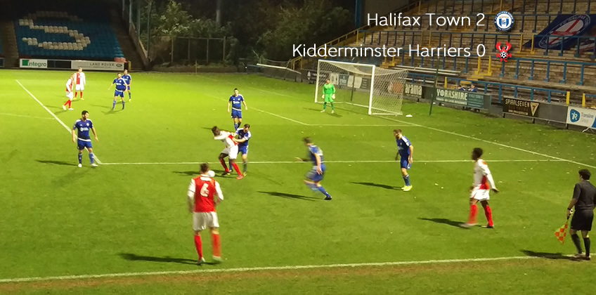 Defeat For Ten-Man Harriers: FC Halifax Town 2-0 Harriers