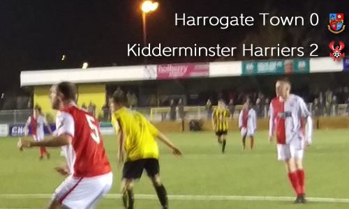 Harriers Bounce Back With Win: Harrogate Town 0-2 Harriers