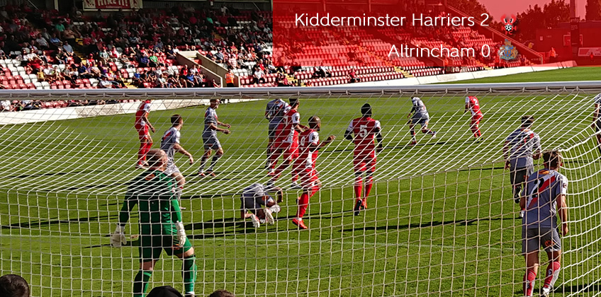 Harriers Grab First Home Win: Harriers 2-0 Altrincham
