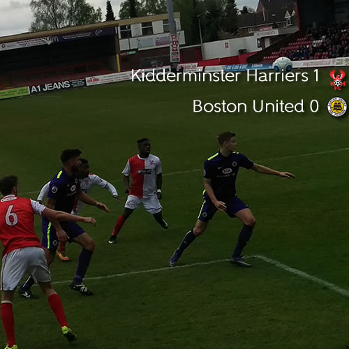 Late Winner Keeps Hopes Alive: Harriers 1-0 Boston United