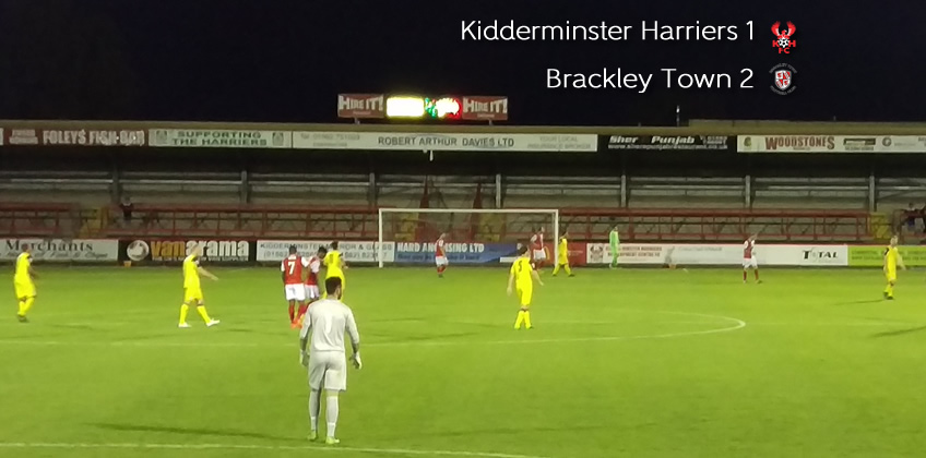 Brackley Burst Harriers Bubble: Harriers 1-2 Brackley Town