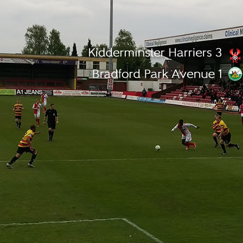 Harriers Clinch Second Place: Harriers 3-1 Bradford Park Avenue