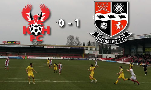 Sleepy Harriers Fall Again: Harriers 0-1 Bromley