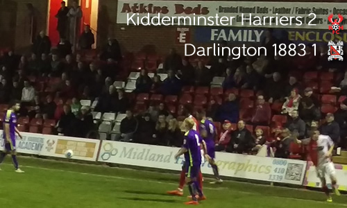 Harriers Battle To Sixth Win: Harriers 2-1 Darlington 1883