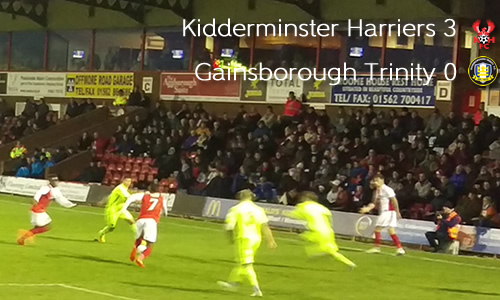 Trinity Of Goals Sink Gainsborough: Harriers 3-0 Gainsborough Trinity