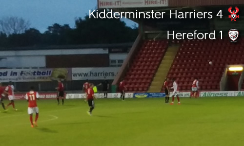 Rampant Harriers Hit Bulls For Four: Harriers 4-1 Hereford