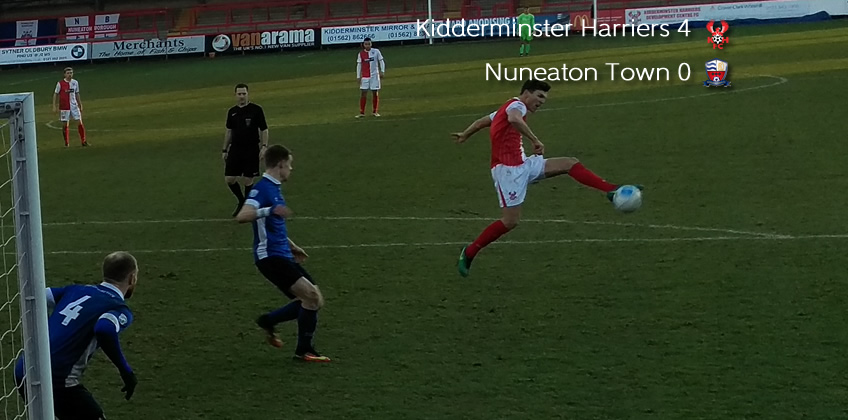 Late Blast Sees Off Nuneaton: Harriers 4-0 Nuneaton Town
