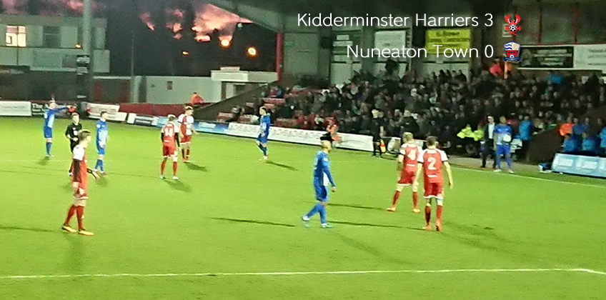 Nine-Man Nuneaton Brushed Aside: Harriers 3-0 Nuneaton Town