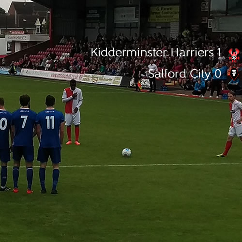 Crucial Win For Harriers: Harriers 1-0 Salford City