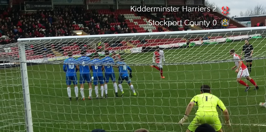 Harriers Stand Strong To Defeat Rivals: Harriers 2-0 Stockport County