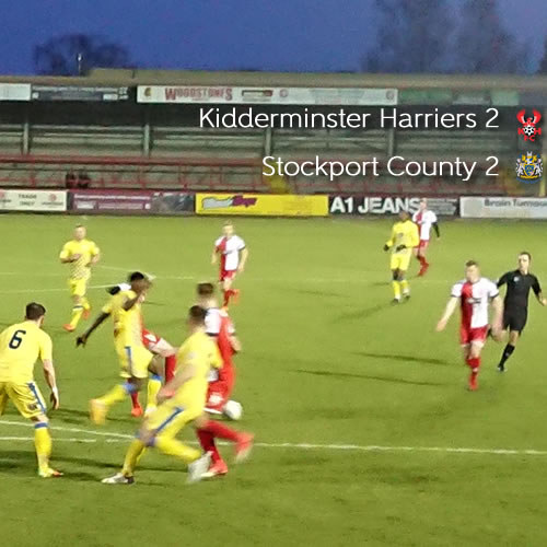 Late Comeback Earns Replay: Harriers 2-2 Stockport County