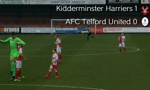 Harriers Close In On Leaders: Harriers 1-0 AFC Telford United