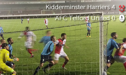 Harriers Comfortably Through In Trophy: Harriers 4-0 AFC Telford United