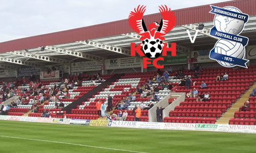 Harriers Held By Blues: Harriers 1-1 Birmingham City