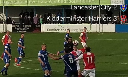 Harriers Avoid Banana Skin: Lancaster City 2-3 Harriers
