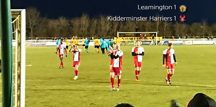 Old Boy Puts The Brakes On Harriers: Leamington 1-1 Harriers