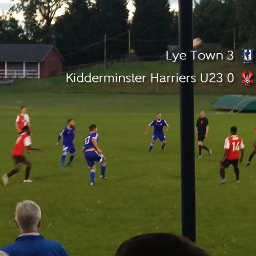Under-23s Defeated In Feisty Friendly: Lye Town 3-0 Harriers U23
