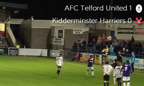 Derby Defeat For Harriers: AFC Telford United 1-0 Harriers