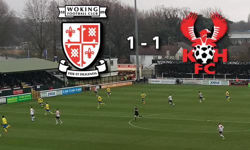 McQuilkin Rescues A Point: Woking 1-1 Harriers