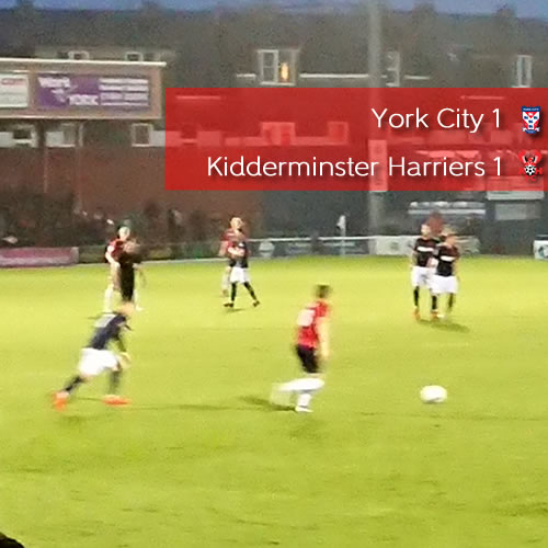 Leaders Held: York City 1-1 Harriers